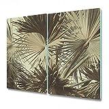 Coloray Tabla De Cortar Vidrio Templado 2x30x52cm Cocina Protector Para Servir Platos Placa De Induccion - Bush Banana Botanic Lush Hawaii Selva Forest