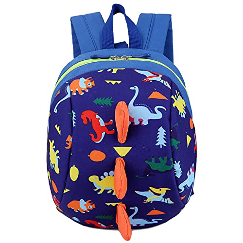 BOIZAN 1 x Kinder-Rucksack mit Dinosaurier-Druck, niedlicher Cartoon-kleiner Dinosaurier-Motiv, Anti-Verlust-Kinder-Schultasche, Jungen und Mädchen, Kleinkinder-Rucksäcke