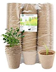 Housolution Peat Pots for Seedlings, 100 Pieces 3 Inch Gardening Seed Starter Tray Kit, Biodegradable Eco-friendly Plant Starting Pots