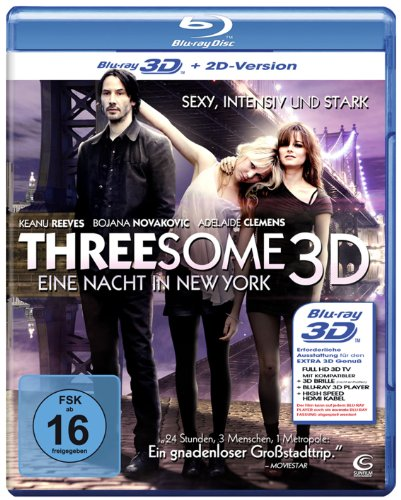 Threesome - Eine Nacht in New York [3D Blu-ray + 2D Version]