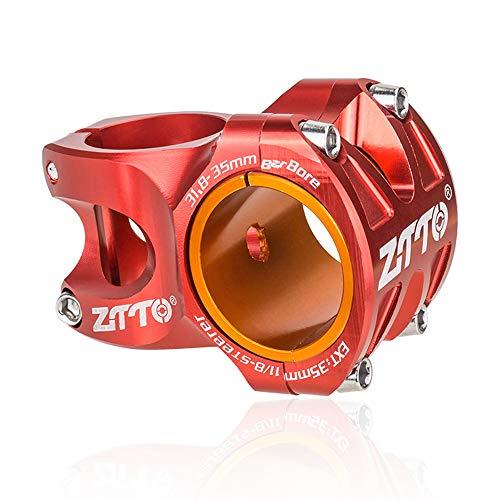CARACHOME MTB liviano de Alta Resistencia MTB de Bicicleta CNC aleación de Aluminio 0 Grados Aumento DH Am Enduro para 35 mm / 31,8 mm Manillar de Bicicleta,B