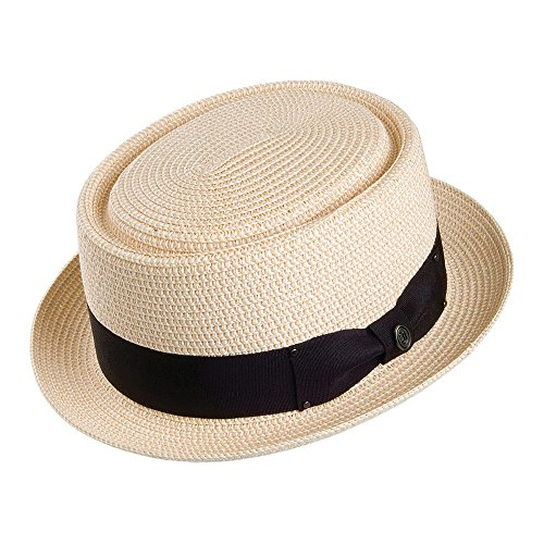 Jaxon & James Chapeau Pork Pie en Paille Toyo Braided Naturel Medium