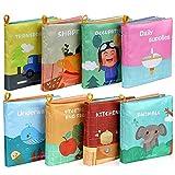 Lictin Libros Blandos para Bebé-Libros de Tela para Bebé Impermeable sobre Aprendizaje y Educativo...