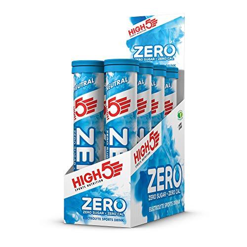 HIGH5 ZERO Pastillas de Hidratación por Electrolitos con Vitamina C Añadida (Neutral, 8 x 20 Tabletas)