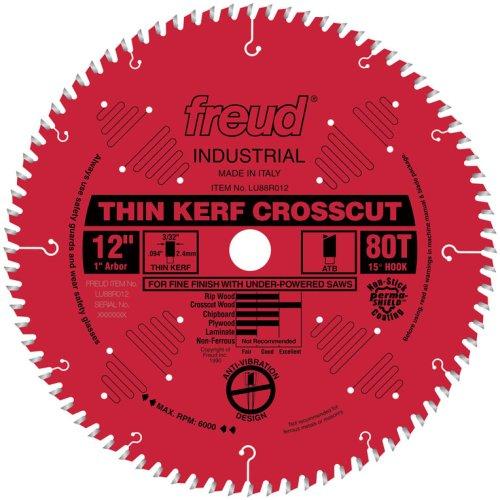 Freud 12' x 80T Thin Kerf Fine Finish Crosscut Blade (LU88R012)