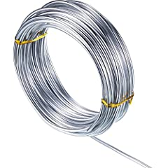 Quality material: silver craft wire is made of aluminum, soft and can be bent easily Size: the aluminum wire is thicker than other aluminum wires, 3 mm in thickness, stronger as a skeleton support, 1 roll has 32.8 feet/ 10 m long Features: aluminum w...