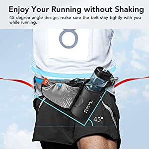 FREETOO Lightweight Running Water Bottle Belt No Bounce Running Water Waist Pack Hydration Belt with Bottle Holder for Runners, Marathon, Fitness Training, Hiking and Jogging