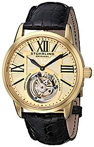 Stuhrling Original Men's 537.333X31 Tourbillon Grand Imperium Limited Edition Mechanical Gold Tone Watch image