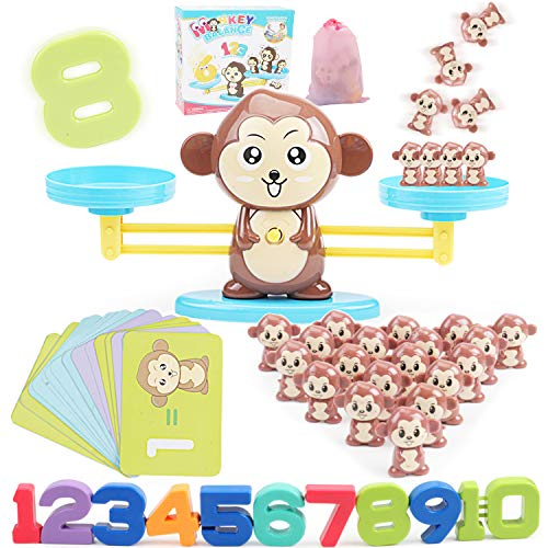 Jiudam バランスゲーム 子供 天秤 知育玩具 セット 指先訓練 数字の基礎を覚える 子ども 幼児 数のお勉強 ...