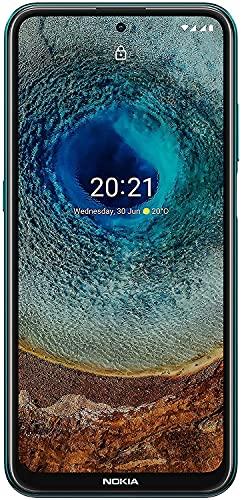 """Nokia X10 Smartphone mit superschnellem 5G, 3 Jahre Herstellergarantie, 6,67"""" Full HD+ Bildschirm, 48 MP-Quad-Kamera, RAM 6 GB /ROM 64 GB,100 % kompostierbares case - Forest"""
