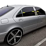 Made in USA! Compatible with 1999-2005 Mercedes-Benz S Class W220 6PC Stainless Steel Chrome Pillar Post Trim