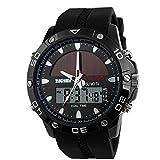 (AxiEr)男女兼用腕時計 デジタルウォッチ 日常生活防水 太陽エネルギー ファッション腕時計 スポーツウォッチ スポーツ用腕時計 ハンド時計メンズ学生1064