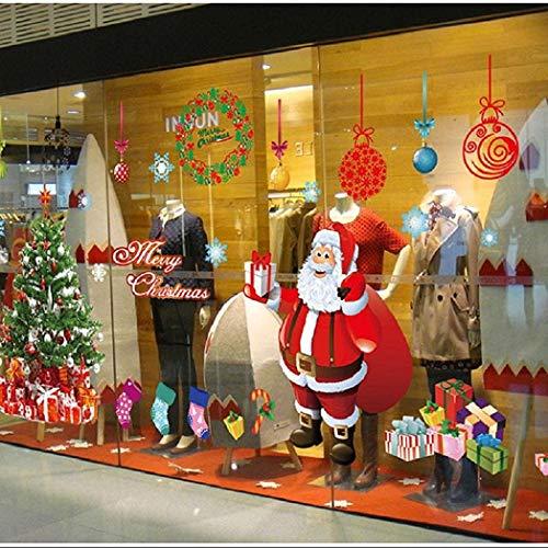 heekpek Santa Window Sticker Grandes Pegatinas de Ventana de Navidad Pegatinas Escaparate Navidad