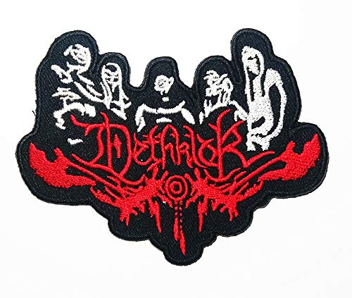 Music D Melodic Death Metal Band Rock Music Heavy Metal Logo Patch Embroidered Sew Iron On Patches Badge Bags Hat Jeans Shoes T-Shirt Applique