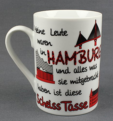 Buddel-Bini Hamburg Scheiss Tasse Fun-Becher Hamburger Souvenir Kaffeetasse Kaffee Tee