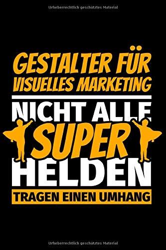 Notizbuch liniert: Gestalter für visuelles Marketing Geschenke lustig