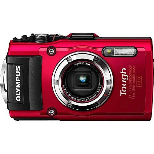 Olympus Stylus Tough TG-3 16MP Waterproof Digital Camera with 4X Optical Zoom (Red) (Renewed)