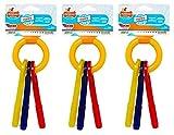 Nylabone 3 Pack of Bacon Puppy Teething Keys, Small
