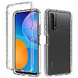 Almiao Kompatibel mit Huawei Y7A/Huawei P Smart 2021 Hülle, Klarer K?rper, Harter PC + Weiches Silikon TPU 2-in-1 STO?Feste Handy-Schutzhülle für Huawei Y7A/Huawei P Smart 2021(Transparent)