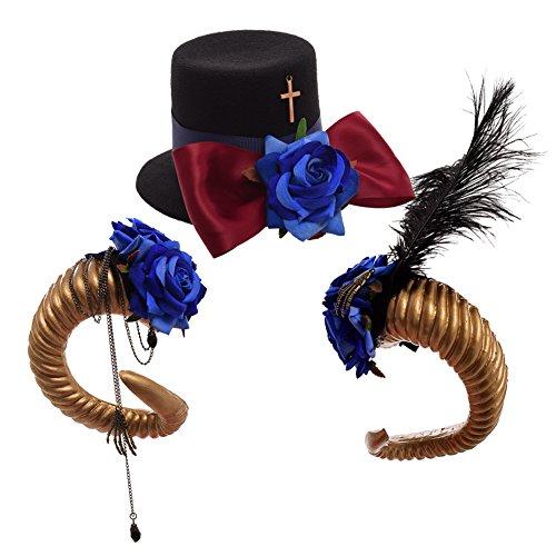 C BLESSUME Steampunk Gothique Mini Haut Chapeau Dentelle Cheveux Agrafe