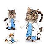 Il costume da dottore cane gatto si adatta incredibilmente per cani che non hanno problemi a camminare o utilizzare la stanza di riposo. I vestiti da medico per animali domestici hanno lo stereoscopio e il medico scrub, un aspetto meraviglioso e cari...