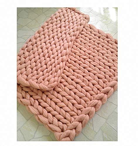 Merino wol garen arm breien gooien grof gebreid wollen deken pluizig zacht knuffeldeken handgemaakt gebreide knuffeldeken voor huisdier bed stoel sofa yoga mat tapijt