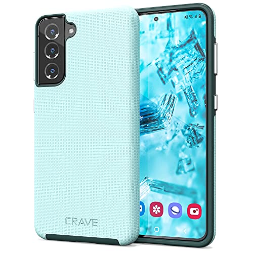 Crave Dual Guard for Galaxy S21 Case, Shockproof Protection Dual Layer Case for Samsung Galaxy S21, S21 5G (6.2 inch) - Aqua is $12.99 (57% off)