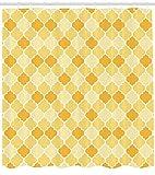 Simple Image Lantern amarillo Quatrefoil cuarto de baño cortina de ducha tela impresión decoración del hogar bañera cortina inodoro