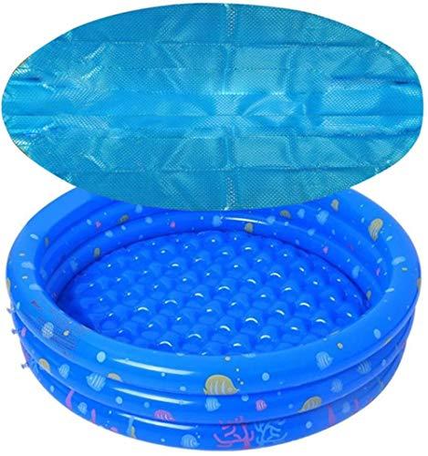 YRRA Pool Solar Manta Cubierta Piscina Cubiertas de Piscina Redonda Piscina Piscina Lids Bañera de hidromasaje Cubierta de Manta Solar-1.83m_Azul