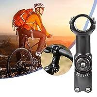 バイクステムライザー、調整可能なステムアルミニウム合金バイクステムクランプ、31.8mm 0-60度、マウンテンバイク用、ロードバイク用