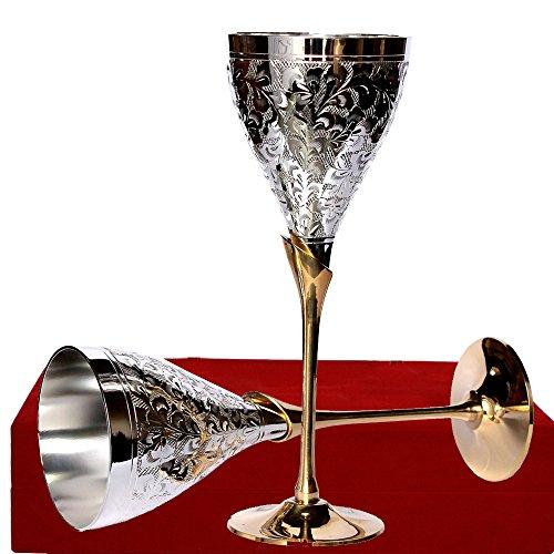Juego de copas de vino de plata alemana para regalos de boda