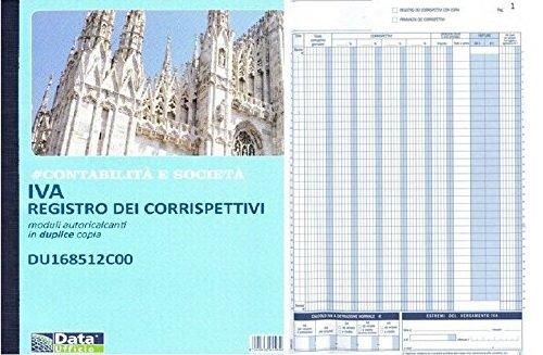 20 REGISTRI CORRISPETTIVI IVA DUPLICE COPIA AUTORICALCANTE DU168512C00