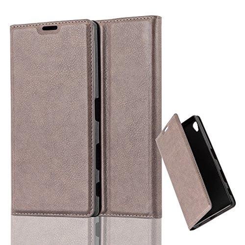 Cadorabo Hülle für Sony Xperia Z5 Premium in Kaffee BRAUN - Handyhülle mit Magnetverschluss, Standfunktion & Kartenfach - Hülle Cover Schutzhülle Etui Tasche Book Klapp Style