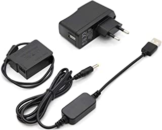 Cable USB del Banco de Potencia + DMW-DCC8 BLC12E batería ficticia BLC12E para Lumix DMC-GX8 FZ1000 FZ300 FZ200 G7 G6 G5 G80 G81 G85 GH2 GH2K GH2S DC-G90 DC-G91 DC-G95 DC-G99