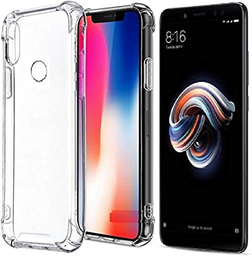 Generic For Redmi Note 5 Pro Mi Note 5 Pro Soft Silicone Shockproof Bumper Case Back Cover In Transparent Air Cushion Technology Mi Note 5 Pro