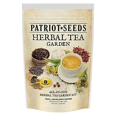 Patriot Seeds 8 Variety Heirloom Seed Pack Non-GMO Herbal Tea Garden