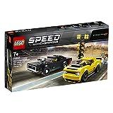 LEGO 75893 Speed Champions 2018 Dodge Challenger SRT Demon und 1970 Dodge Charger R/T Bauset, Rallyeauto, Spielfahrzeuge für Kinder