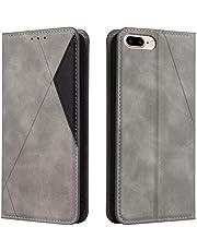 Hoesje voor iPhone 8 Plus / 7 Plus Wallet Book Case, Magneet Flip Wallet met Kaarthouders slots Robuuste schokbestendige Bookcase voor Apple iPhone 7Plus / 8Plus -