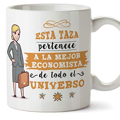 MUGFFINS economista. Tazas Originales de café y Desayuno para Regalar a Trabajadores Profesionales - Esta Taza Pertenece a la Mejor economista del Universo - Cerámica 350 ml