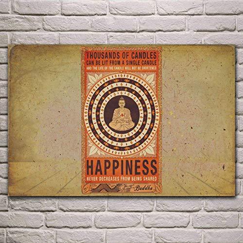 Regalo Rompecabezas 1000pcs_Adult Budismo sobre Compartir la Felicidad Juego de Rompecabezas para Adultos/niños Juguete Cerebro decoración del hogar 50x75cm