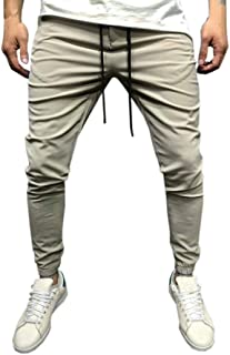 iZHH Men Sweatpants Ports Wear Baggy Jogger Pants Slacks Ankle-Length Pants