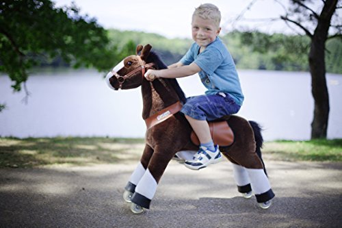 Smart Gear Pony Cycle Chocolate, Light Brown, or Brown Horse Riding Toy: 2 Sizes: World's First Simulated Riding Toy for Kids Age 3-5 Years Ponycycle Ride-on Small -  Smart Gear - Toys, SG872S41