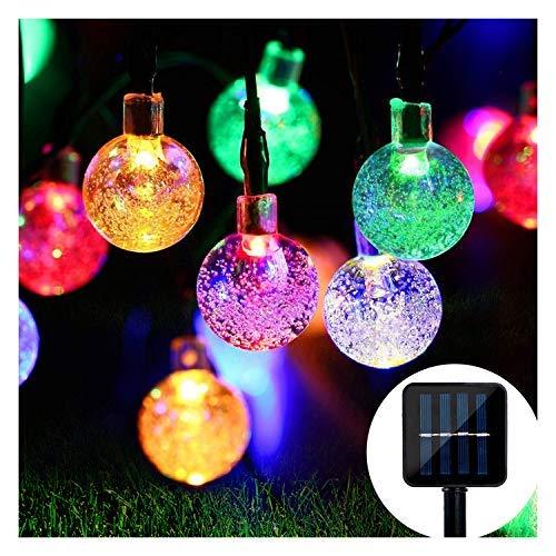 Solar Lichterkette,Mr.Twinklelight 4.5M 30er LED Solar Lichterkette Außen Kristall Kugeln Garten Licht für Garten, Terrasse, Zuhause, Weihnachtsdeko und Partys Mehrfarbig
