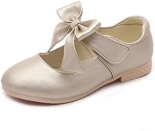 Gungun Girl Mary Jane Square Toe Flat Shoes Bowknot Autumn Toddler//Little Kid//Big Kid