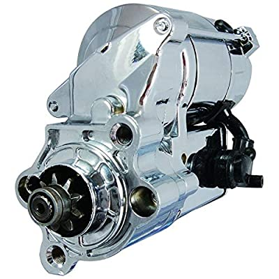 New Chrome Starter Replacement For 1981-2014 Harley Davidson Sportster 31390-91 31390-91A 31390-91B 31390-91E 31390-91F 31391-91 31391-91A 31391-91B 31514-90