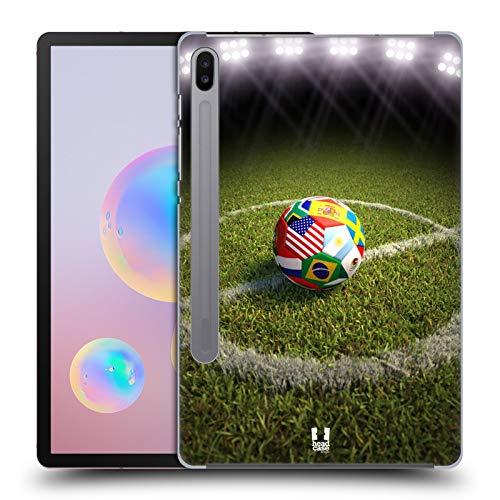 Head Case Designs Fussball Auf Ainem Fussballfeld Fussball Schnappschüsse Harte Rueckseiten Huelle kompatibel mit Samsung Galaxy Tab S6 (2019)