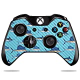 MightySkins Carbon Fiber Skin for Microsoft Xbox One or One S Controller - Billfish Stripes | Protective, Durable Textured Carbon Fiber Finish | Easy to Apply, Remove | Made in The USA