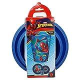 Stor Set Easy 3 PZ. Piatto, Ciotola e Bicchiere da 260 ml in Astuccio Spiderman Graffiti