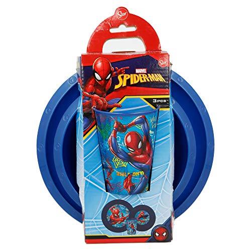 Set Easy 3 pezzi (piatto, ciotola e bicchiere 260 ml) in astuccio Spiderman Graffit