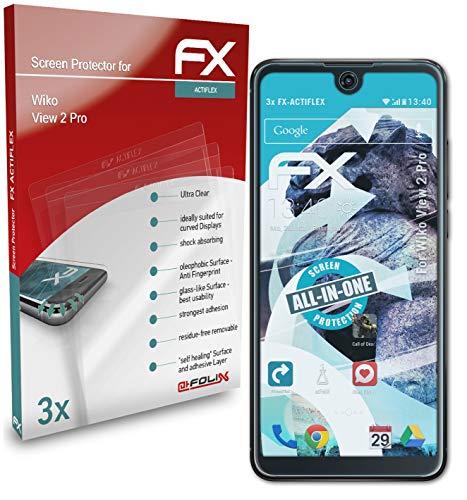 atFolix Schutzfolie kompatibel mit Wiko View 2 Pro Folie, ultraklare & Flexible FX Bildschirmschutzfolie (3X)